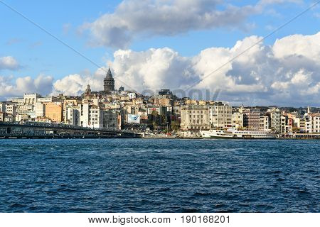 View Of Old Istanbul And Galata Tower, Istanbul, Turkey