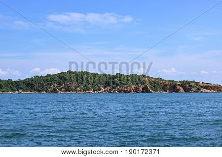 Seascapes of the island Landscape view of the sea