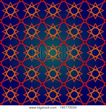 seamless pattern in islamic style. arabic star pattern. background for islamic invitations and greeting cards. ornamental decoration in eastern style. ramadan kareem islamic - stock vector