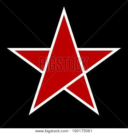 Red star icon. Branding of company. Logo design elements. - stock vector