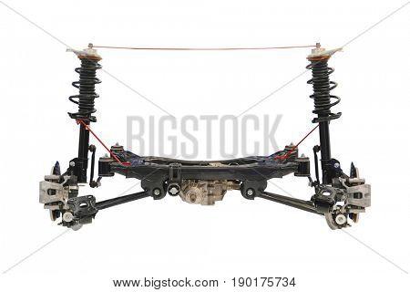 Car forward axle isolated