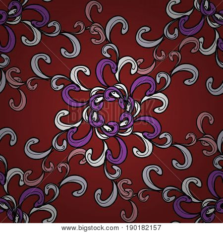 Seamless damask pattern background for sketch design in the style of Baroque. Ornamental pattern on colorful background with ornamental elements. Ornate vector decoration.