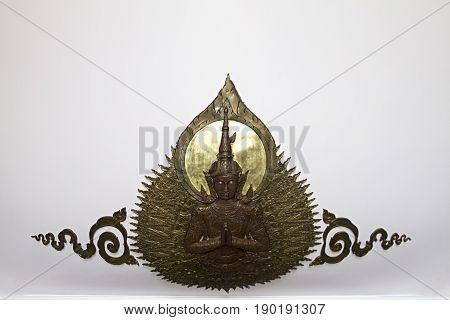 Udon Thani Bronze statue detail temple  wat