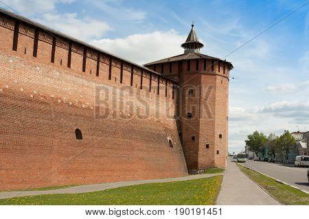 Faceted Tower Of Kremlin In Kolomna Moscow Region.