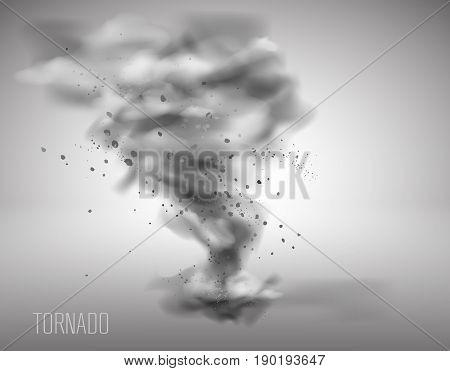 tornado on a simple background. Vector illustration EPS 10