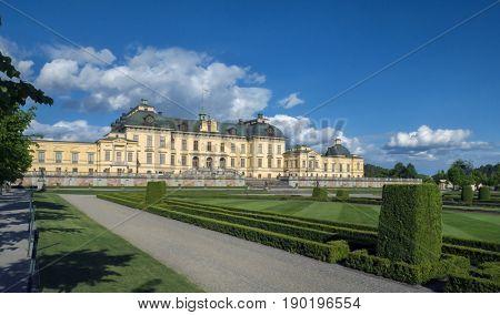 STOCKHOLM - JUN 01, 2017- Drottningholm palace, Sweden