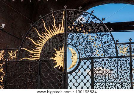 Kazan, Russia - August 5, 2016: An Ornated Gate Grate In The Soyembika Tower Of Kazan Kremlin