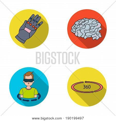 Technology, innovation, man, complemented .Virtual reality set collection icons in flat style vector symbol stock illustration .