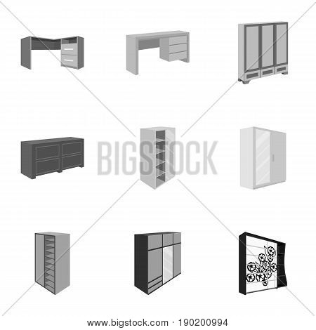 The set of images on the theme of sleep and rest. Different beds for every taste and color.Bed icon in set collection on monochrome style vector symbol stock  illustration.