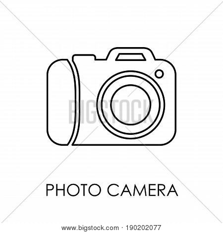 Photo Camera Icon Symbol Flat Style Vector Illustration