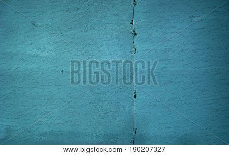 Metal, metal surface, turquoise metal texture, metal background. Metal wall. Old metal.