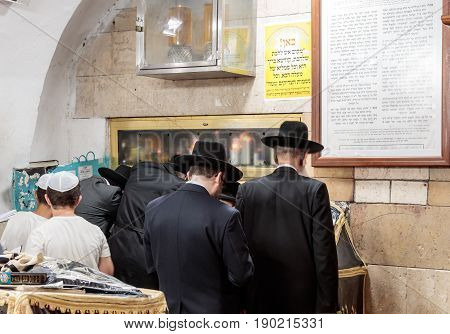 Ultra Orthodox Jews Pray At The Grave Of Rabbi Shimon-bar Yochai In Mount Meron Near The Northern Is