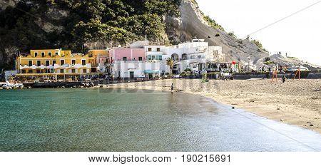 Sant Angelo on island Ischia, island in bay of Naples, italy