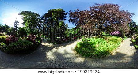360 degrees spherical panorama of Botanical Garden