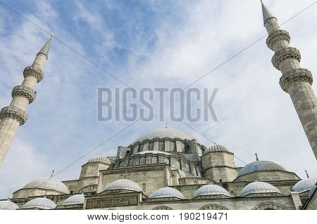 The Courtyard Of The Suleymaniye Mosque. Istambul, Turkey