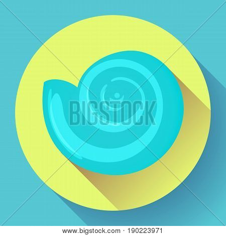 blue sea shell icon vector shell logo template. Seafood flat icon.