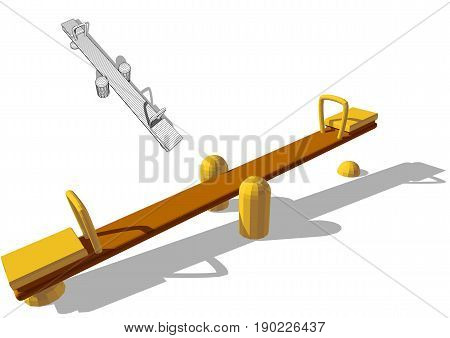 seesaw set isolated on a white background