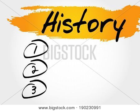 History blank list , business concept background