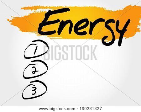 Energy Blank List, Fitness