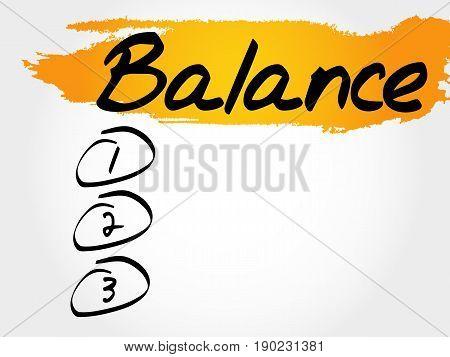 Balance Blank List, Fitness