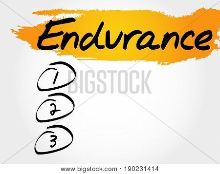 Endurance Blank List, Fitness