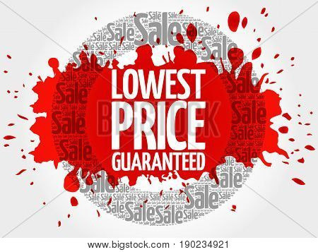 Lowest Price Guaranteed Words Cloud
