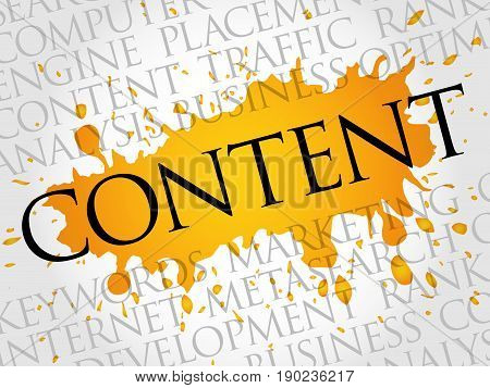 CONTENT word cloud collage, business concept background