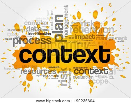 Context word cloud collage , business concept background