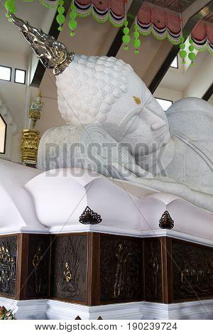 white marble Buddha spirituality temple udon thani pray