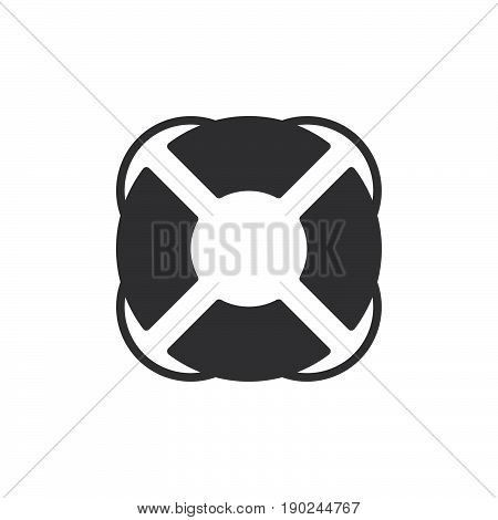 Lifebuoy icon vector filled flat sign solid pictogram isolated on white. Help symbol logo illustration. Pixel perfect