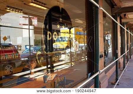 CHICAGO, IL - CIRCA MARCH, 2016: Dollop Coffee in Chicago.