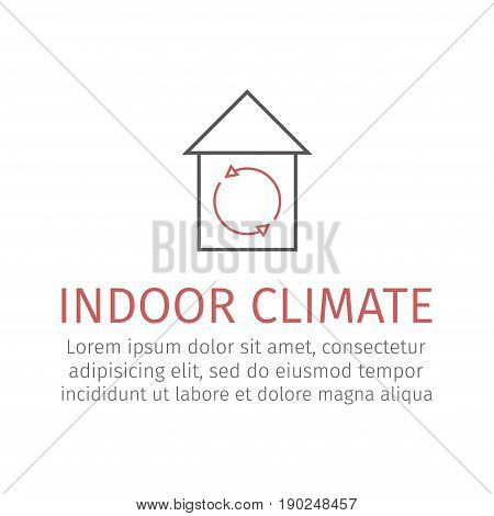 Indoor climate. Vector sign for web graphics.