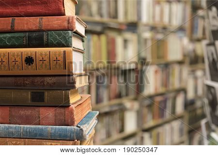 Ancient books yellow paper empty side art