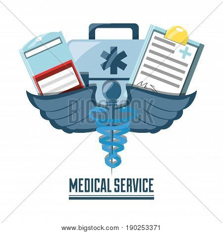 blood donation with briefcase and medial prescription vector illustration