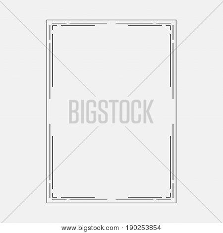 vector image dark icon decorative ornamental frame