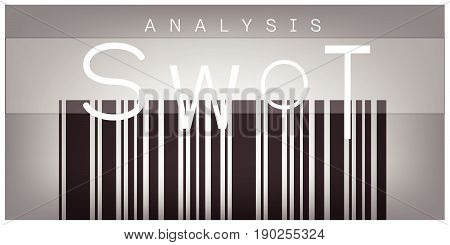 SWOT Analysis Matrix on Barcode Label A Structured Planning Method for Evaluate Strengths, Weaknesses, Opportunities and Threats Involved in Business Project. A Foundation Strategy Management Plan.