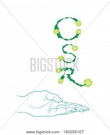 Business Concepts, Hand Holding Beautiful Green Leaves with CSR Abbreviation or Corporate Social Responsibility.