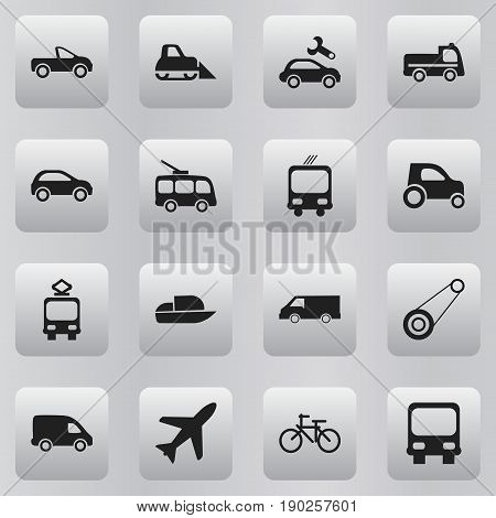 Set Of 16 Editable Shipment Icons. Includes Symbols Such As Bogie, Repairing, Van And More. Can Be Used For Web, Mobile, UI And Infographic Design.