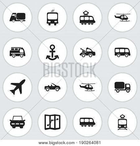 Set Of 16 Editable Shipment Icons. Includes Symbols Such As Shipping, Carriage, Auto And More. Can Be Used For Web, Mobile, UI And Infographic Design.