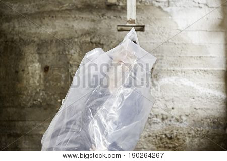 Woman Trapped Plastic