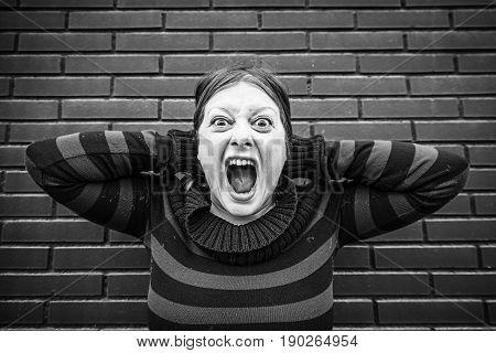 Girl Upset And Yelling