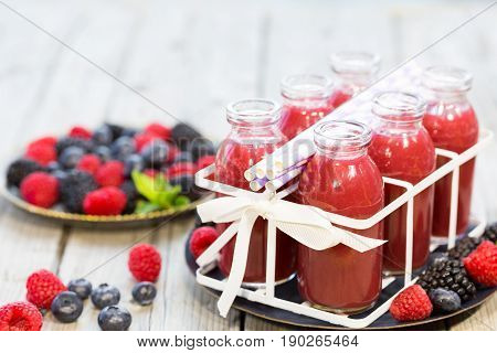 Refreshing juice of fruits of the forest