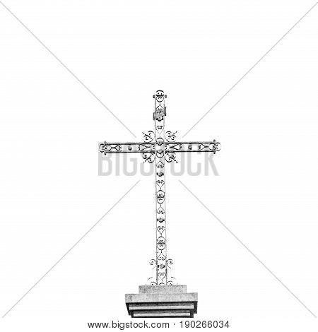 Grass   Abstract Sacred  Cross In Italy Europe And The Sky Background