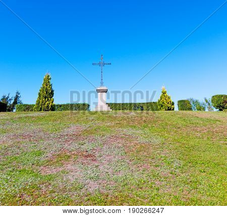 Grass   Abstract Sacred  Cross In Italy Europe And Tree