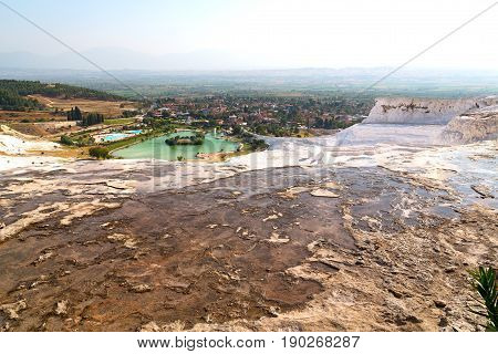 Bath And Travertine Water