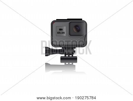 Realistic action camera. Vector illustration EPS 10