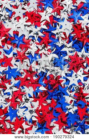 Patriotic USA red white and blue stars background