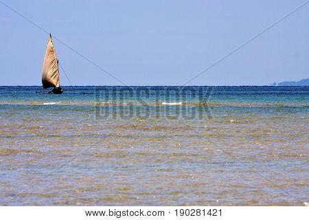 In The  Blue Lagoon  Coastline Nosy Iranja
