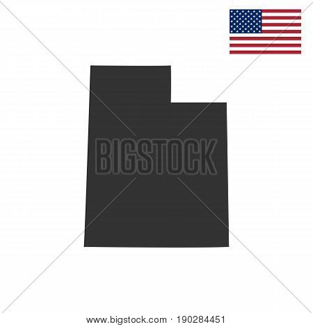map of the U.S. state of Utah on a white background