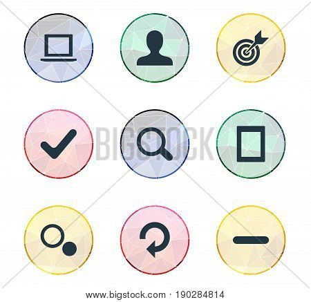 Vector Illustration Set Of Simple Leisure Icons. Elements Board, Update, Profile Picture And Other Synonyms Profile, User And Minus.